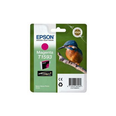 Epson Kingfisher T1593 UltraChrome Hi-Gloss2 Vivid Magenta Ink Cartridge for  R2000