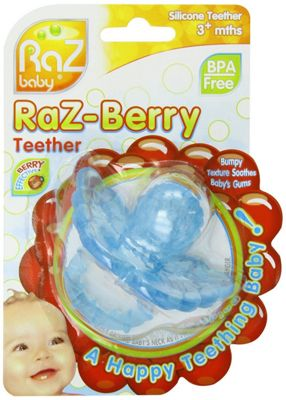 Raz-berry Teether - Baby Blue