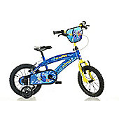 Finding Dory Blue Kids Bike - 14 inches Children's Bike - Dino Bikes