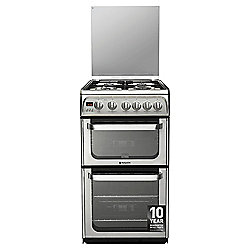Hotpoint Ultima Gas Cooker with Gas Grill and Gas Hob, HUG52X - Stainless Steel