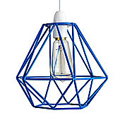 Diablo Blue Wire Frame Non Electric Pendant Shade