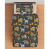 Africa Single Duvet Cover Set with Pillowcase