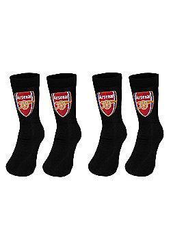 Arsenal FC Kids Socks 2 Pair Pack - Black