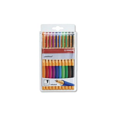 Stabilo Point Visco Rollerball Pen Wallet of 10 Assorted 1099/10