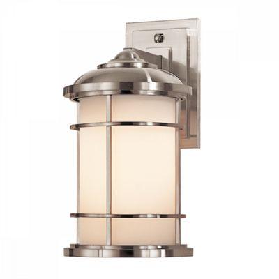 Brushed Steel Medium Wall Lantern - 1 x 60W E27