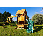 Selwood Ickworth Climbing Frame With Curved Slide & Monkey Bars