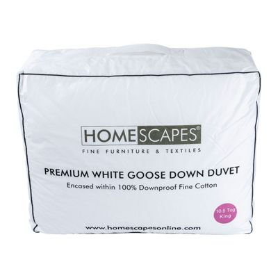 Premium White Goose Down 10.5 Tog King Size Autumn Duvet