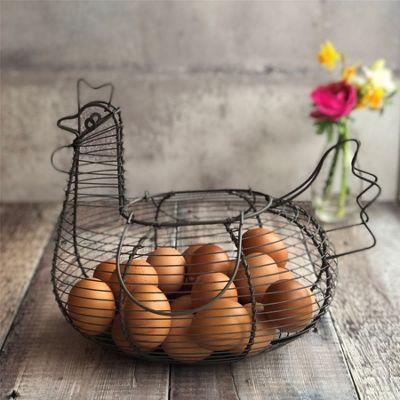 Wire Chicken Egg Storage Basket