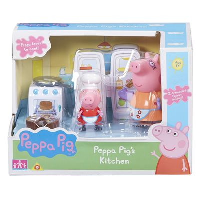 Peppa Pig Kitchen Set With 2 Figures
