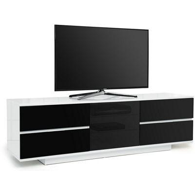 MDA Avitus Ultra Gloss White and Black TV Cabinet For 65 inch TV s