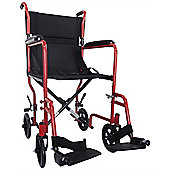 Aidapt Steel Compact Transport Wheelchair in Red