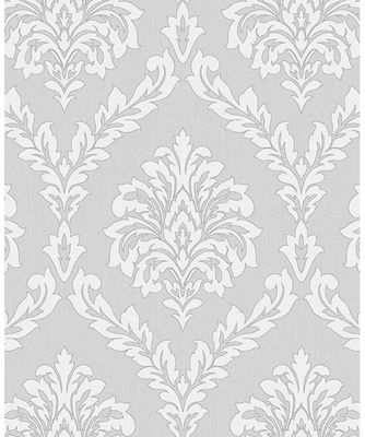 Cavendish Damask Grey Wallpaper