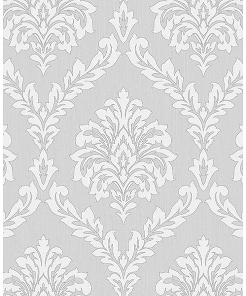 Cavendish Damask Grey Wallpaper