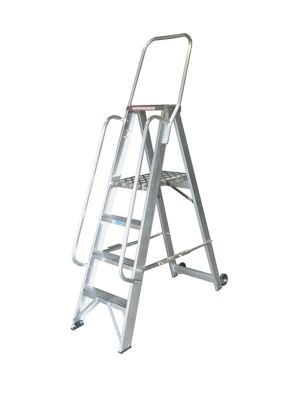 Heavy Duty 10 Tread Single Sided Stock Picking Step Ladder