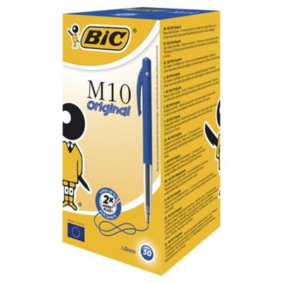Bic M10 Retractable Ball Pen Blue 50 Pack