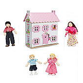 Le Toy Van Sophies Dolls House and My Family of 4 Dolls