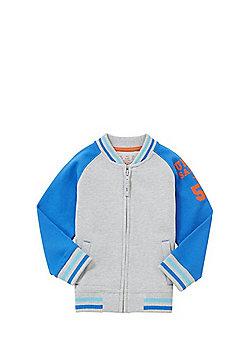 F&F Varsity Jersey Bomber Jacket - Grey