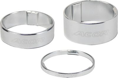 Acor 1.1/8inch Alloy Spacers: 5mm Silver. Set Of 10