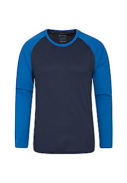 Mountain Warehouse Mens Tshirt with UV Protection UPF30 and IsoCool High Wicking - Electric blue