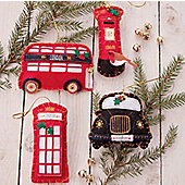 Set of Four British Felt Decorations