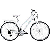 Freespirit Trekker Plus Hybrid 700c Step Through Frame Bike White