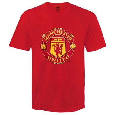 Manchester United FC Kids T-Shirt Red 8-9 Years