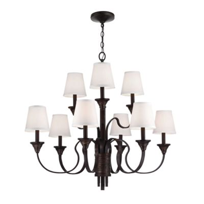 Arbor Bronze / Weathered Brass 9lt Chandelier - 9 x 60W E14