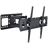"VonHaus 32-55"" Double Arm Tilt & Swivel TV Wall Mount Bracket with Built-In Spirit Level"