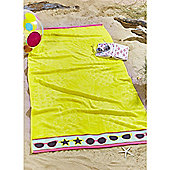 Catherine Lansfield Pineapple Beach Towel - Yellow