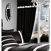 Catherine Lansfield Glamourous Diamante Bands Eyelet Curtains - Black