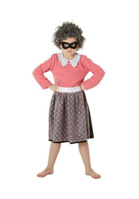 The World of David Walliams Gangsta Granny Costume Pink 7-8 years