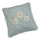 Rectella Montrose Duck Egg Blue Corded Jacquard Square Cushion Cover -46x46cm