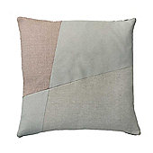 Rose and Grey Patchwork Square Cushion from Bahne