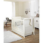 Mee-Go Sleep Sleigh Cotbed Ivory/Drawer/Pocket Sprung Mattress/Quilt and Bumper