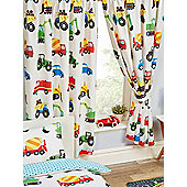 Trucks and Transport Lined Curtains - Multi