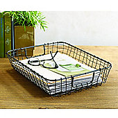 Design Ideas Cabo Letter Tray Hand Woven Wire in Vintage Finish