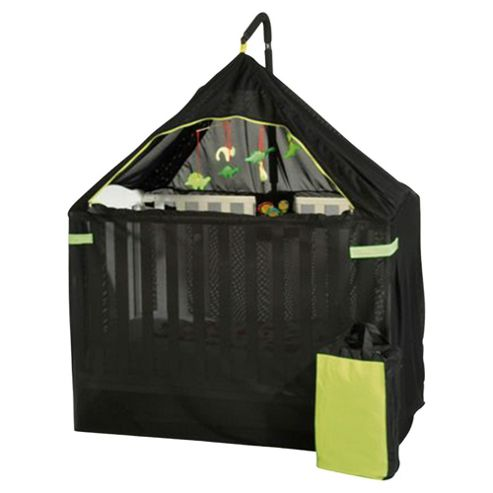 Content&Calm Cot Canopy Breeze Cot Shade, Darkness & Insect Protection, Black/Green