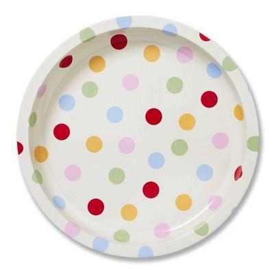 Cooksmart Spots 31cm Round Tin Tray