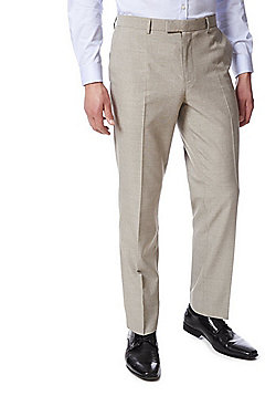 F&F Slim Fit Suit Trousers - Taupe