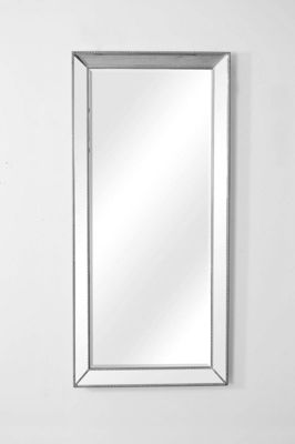 Buy Large Silver Beaded Edge Modern Venetian Wall Mirror ...