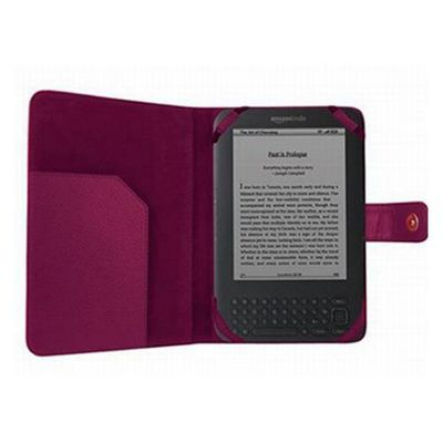 iTALKonline 14148 Executive Wallet Case Purple - For  Amazon Kindle 3