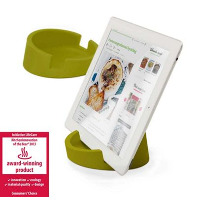 Bosign iPad or Tablet Heavyduty Stand in Green Silicon for Reading or Working Ø11.4xH4.5cm
