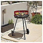 Tesco Round Charcoal Grill BBQ, Red