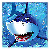 Shark Splash Party Paper Luncheon Napkins 3ply - 16 Pack
