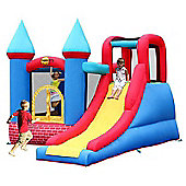 Red Brick Turret Bouncy Castle with Slide - Rideontoys4u