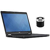 """Dell Latitude E5250 12.5"""" Laptop Intel Core i5-5300U 8GB 500GB Win 7 Pro with Mini Portable Speaker"""