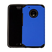 Orzly Duo-Armour Slim-Fit Dual Layer Protective Case for Moto G5 - BLUE