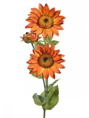Artificial - Sunflower Susan Spray - Orange