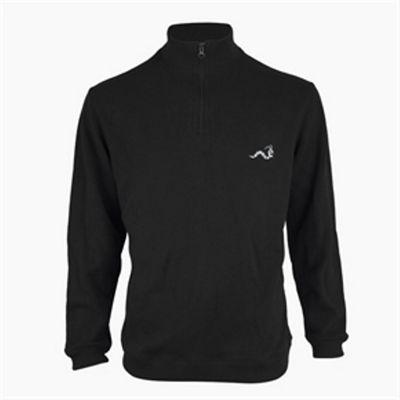 Woodworm Golf Half Zip Sweater Black Xl