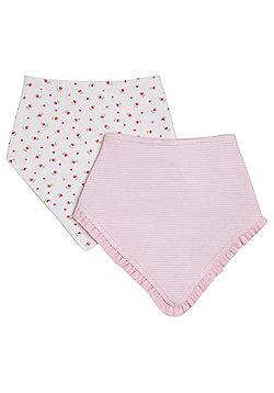 F&F 2 Pack of Dribble Bibs - Multi & Pink